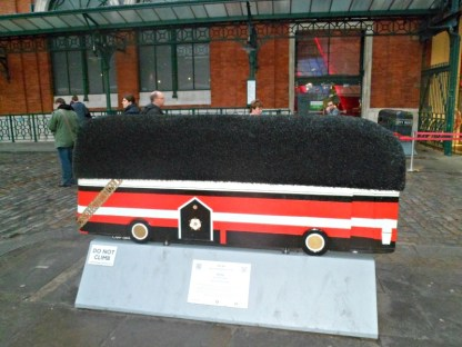 Queen's Conductor (Busby) bus sculpture, London