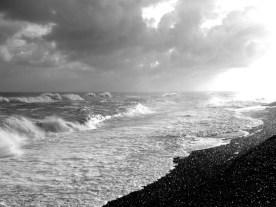 Waves at Aldeburgh beach, Suffolk