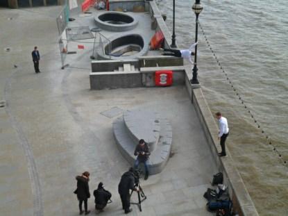 Matt Allwright filming in London for Watchdog