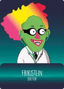 Doctor Frikistein Gee up unicorn card