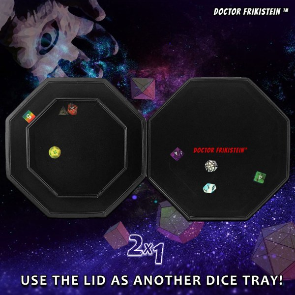 Fate Watcher Dice Tray Caja Tapa Dados Rol RPG Box Lid Dice