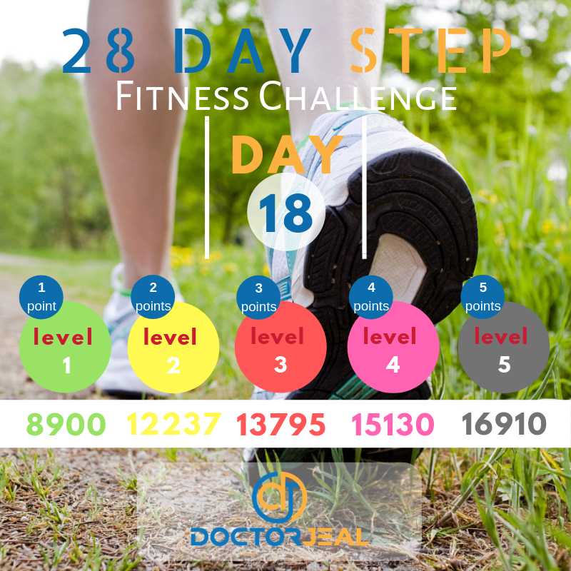28 Day Step Fitness Challenge Day 18