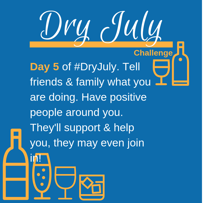 Dry July Challenge Daily Targets Day 5