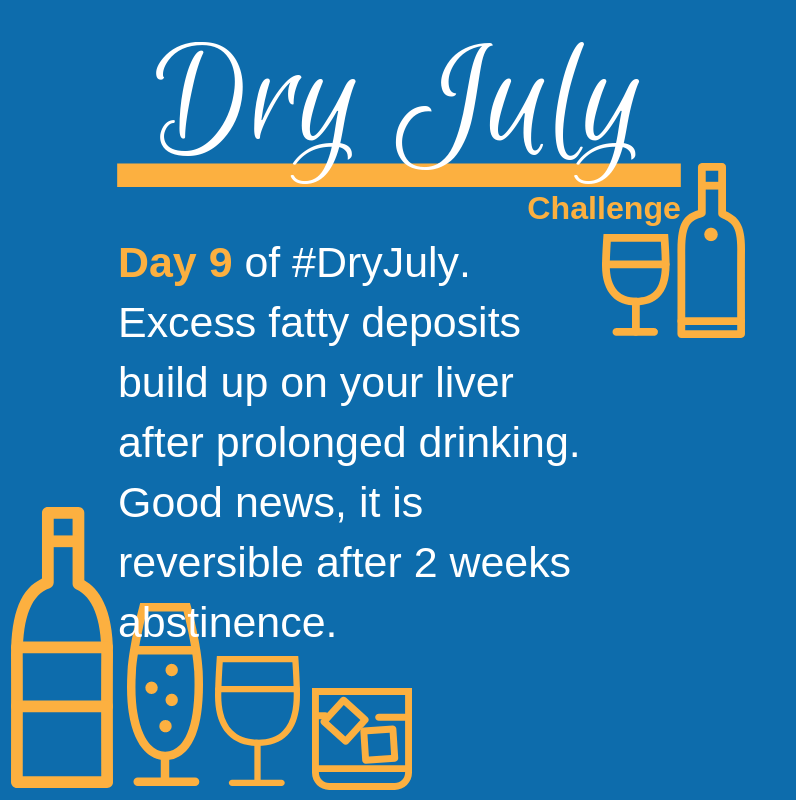 Dry July Challenge Daily Targets Day 9