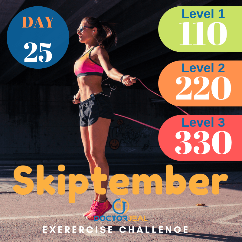 September Skipping Challenge Target Guide Day 25