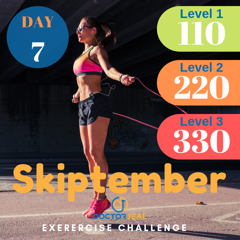 September Skipping Challenge Target Guide Day 7