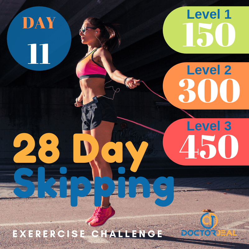 28 Day Skipping Challenge Day 11