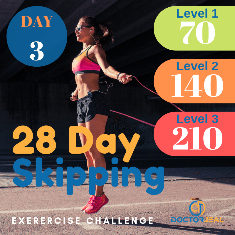 28 Day Skipping Challenge Day 3