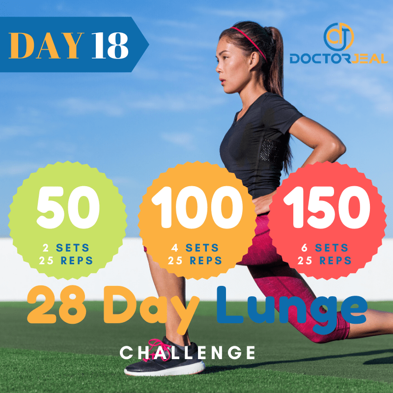 28 Day lunge Challenge Target Day 18
