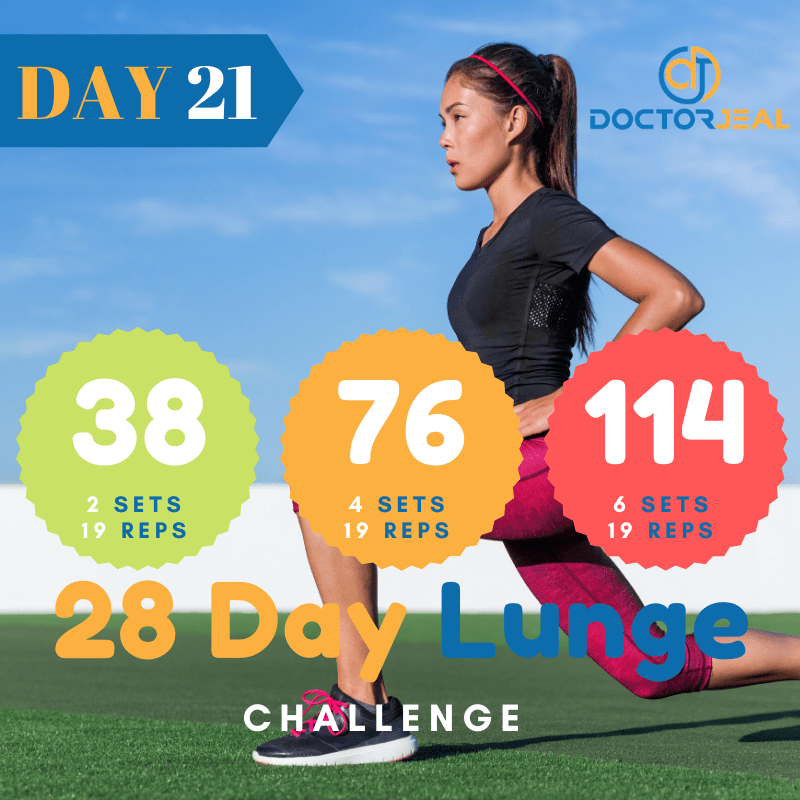 28 Day lunge Challenge Target Day 21