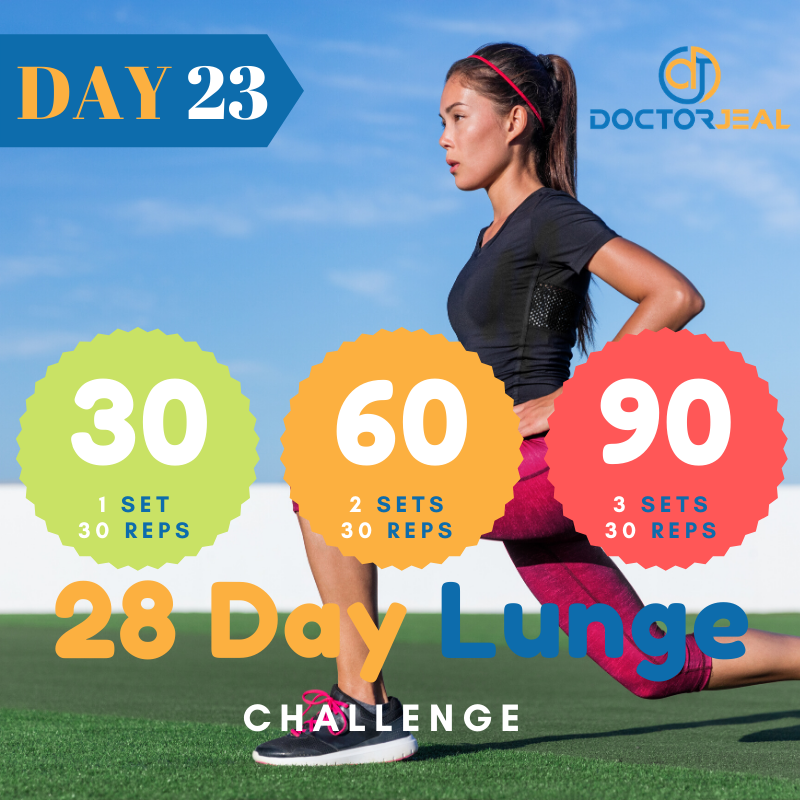 28 Day lunge Challenge Target Day 23