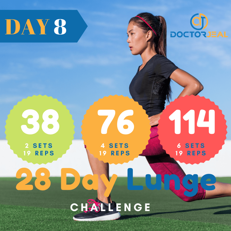 28 Day lunge Challenge Target Day 8