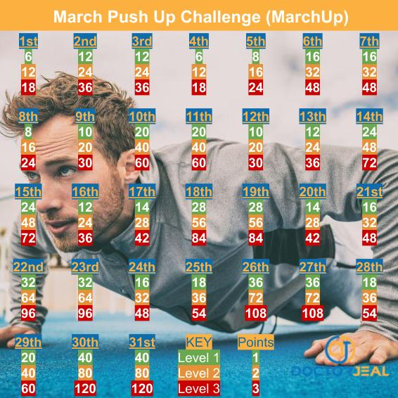 MarchUp Exercise Challenge - Male Version