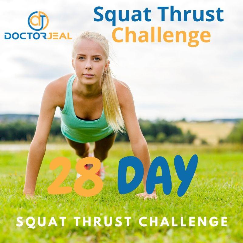 28 Day Squat Thrust Challenge Title
