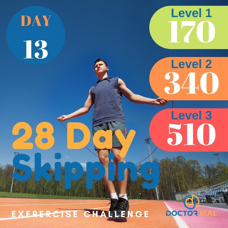 28 Day Skipping Challenge - Male Day 13