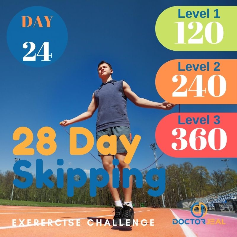 28 Day Skipping Challenge - Male Day 24