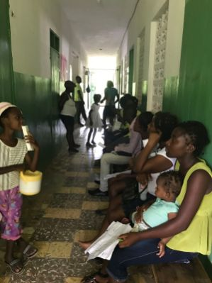Patients waiting to be seen. Some waited 6 hours to be seen after walking for up to 6 hours from home. That certainly brings perspective to the availability of high quality care.