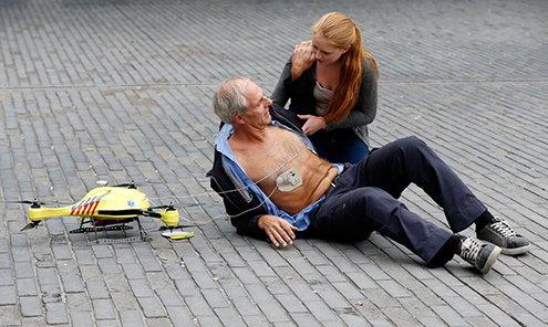 tu delft ambulance drone