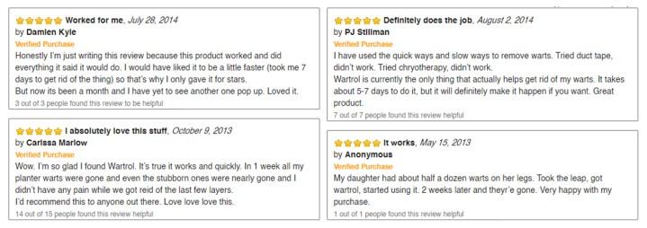 Wartrol customer reviews