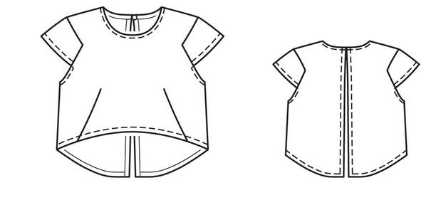 Crop Top Shirt Sketch Sketch Coloring Page