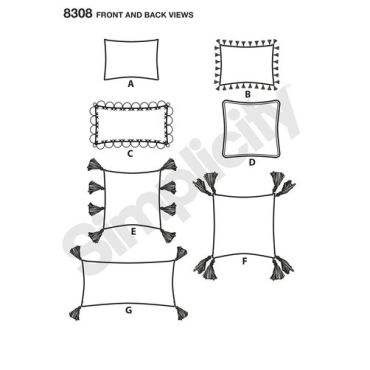 Simplicity Home Decor Pattern 8308 Front Back View