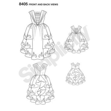 simplicity-costume-pattern-8405-front-back-view