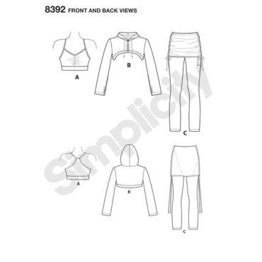 simplicity-sportswear-pattern-8392-front-back-view