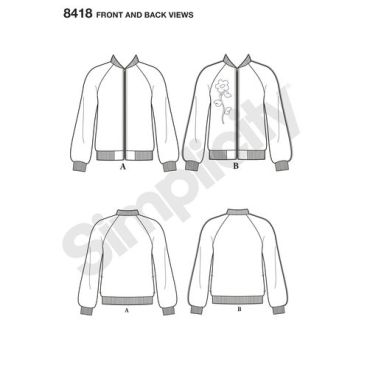 simplicity-bomber-jacket-pattern-8418-front-back-view