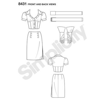 simplicity-costume-pattern-8431-front-back-view