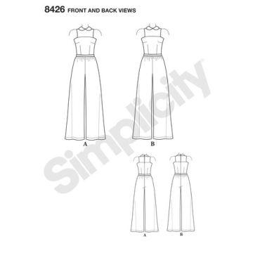 simplicity-jumpsuit-mimigstyle-mimig-miss-women-plus-pattern-8426-front-back-view