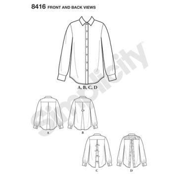 simplicity-top-vest-pattern-8416-front-back-view
