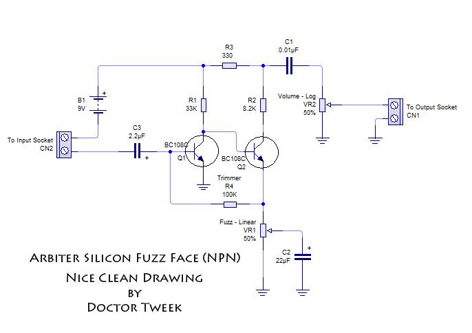 fuzz face wiring diagram doctor tweek v2 mitsubishi lancer cj the arbiter silicon s blog get