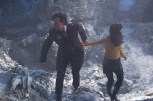 Picture shows: MATT SMITH as The Doctor and JENNA COLEMAN as Clara