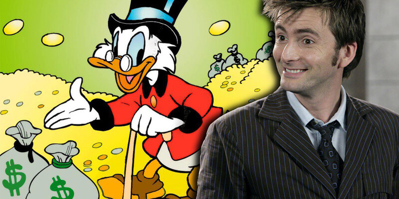 David Tennant plays Scrooge McDuck in DuckTales