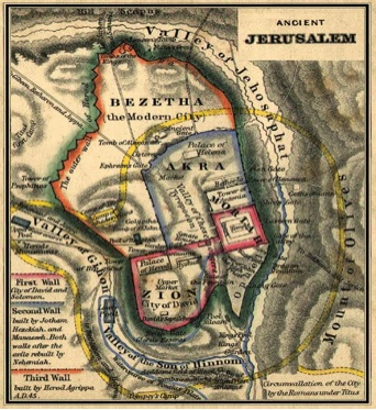 Ancient Jerusalem Depicting the Valley of Jehosaphat