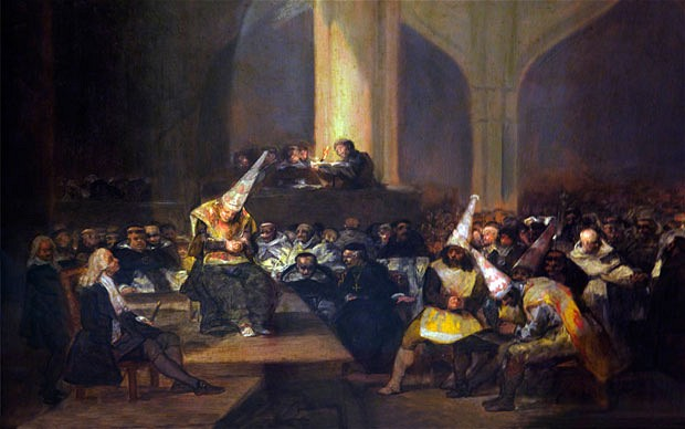 Scene of the Inquisition by Goya Cir. 1816