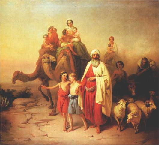 Abraham Leaves Canaan for The Promise Land Artist Unknown