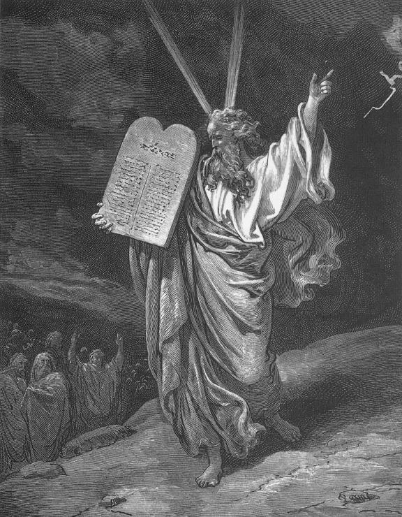 Moses and The Law by Gustave Dore 1865