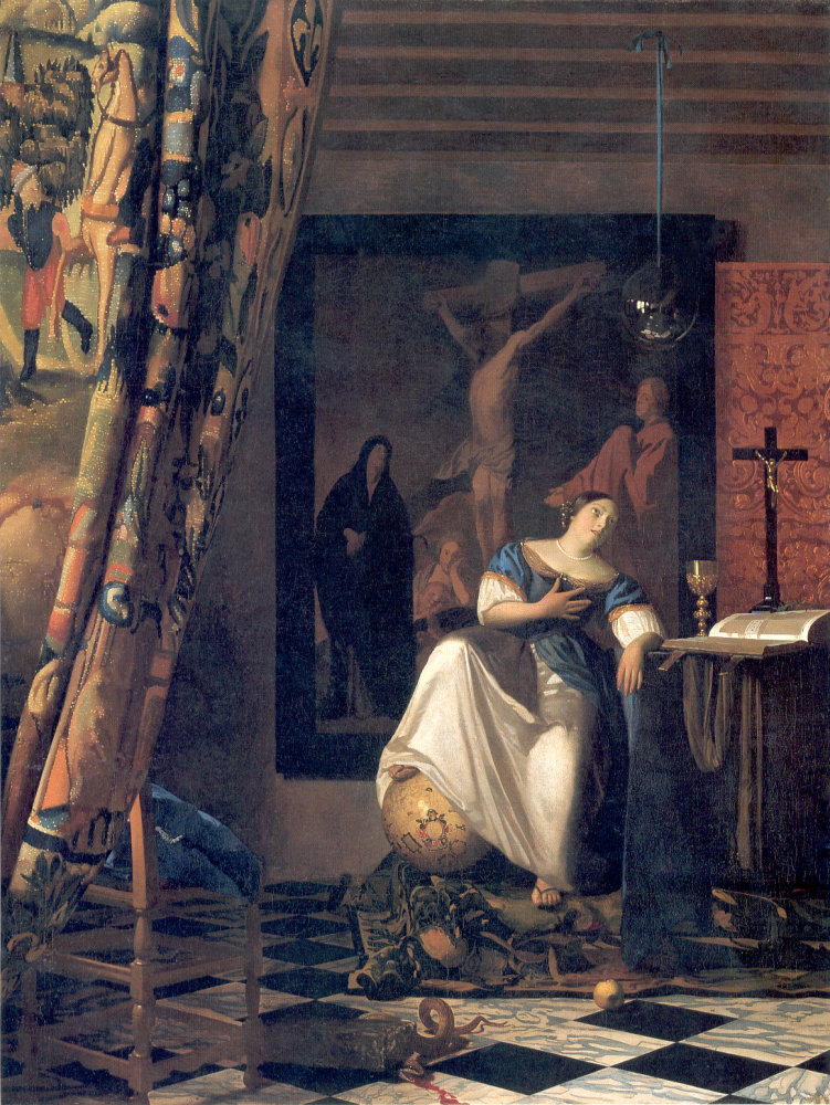 The Allegory of Faith by Johannes Vermeer cir. 1632-1675