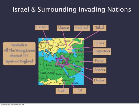 Invading Nation of Israel from Gog and Magog War Ezek. 38 & 39 Art by Daniel Woodhead