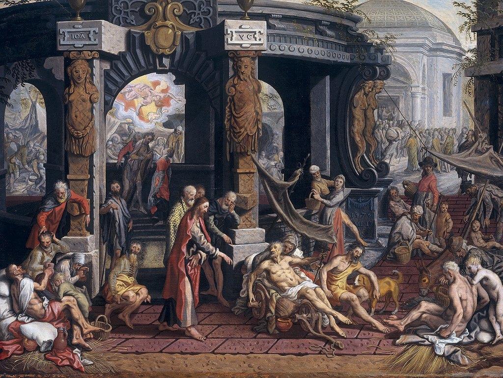 Healing of the Cripple of Bethesda by Pieter Aertsen Cir. 1507-08