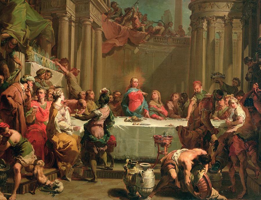 Marriage  Feast at Cana by Gaetano Gandolfi Cir.1790