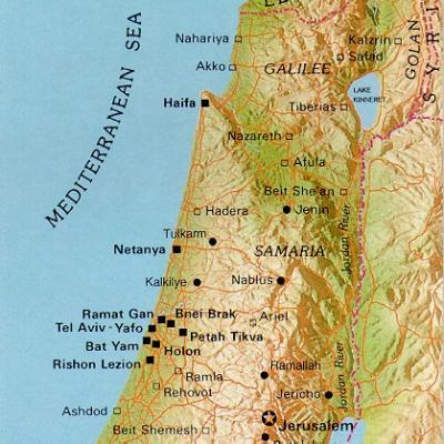 Map of Samaria from Daily Bible study. http://www.keyway.ca/htm2002/samaria.htm