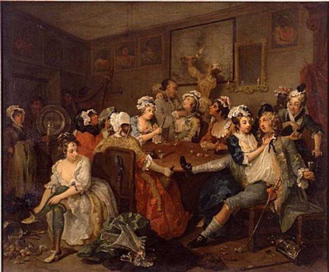 The Orgy by William Hogarth Cir 1733