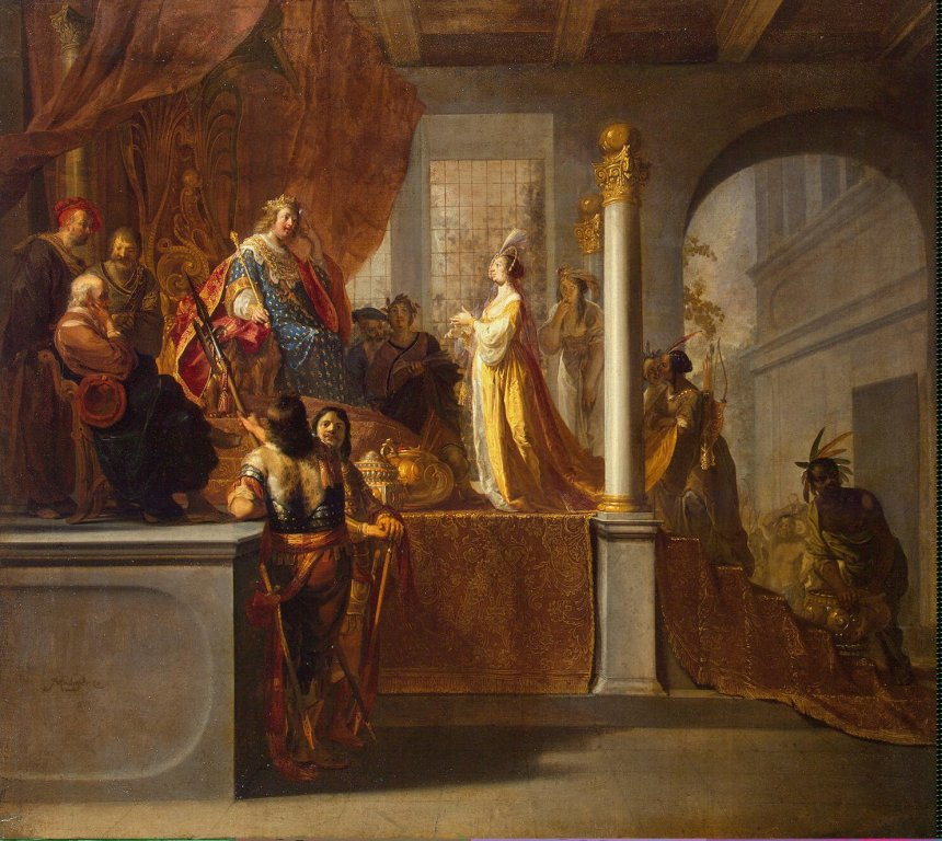 The Queen of Sheba before Solomon by Nicolaes Knüpfer Cir 1640
