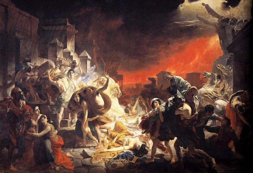 Last Days of Pompei by Karl Briullov Cir 1799-1852
