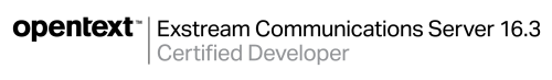 Opentext Exstream certified developers