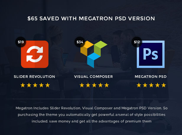 Megatron - Responsive MultiPurpose WordPress Theme - 5
