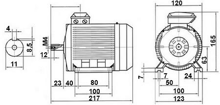 Moteur électrique alternatif asynchrone 4 pôles 1000tr