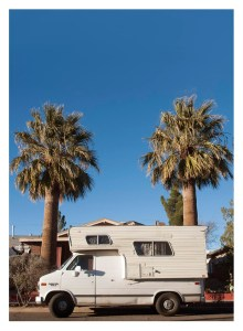 Van and palms, Las Cruces, New Mexico, 2015